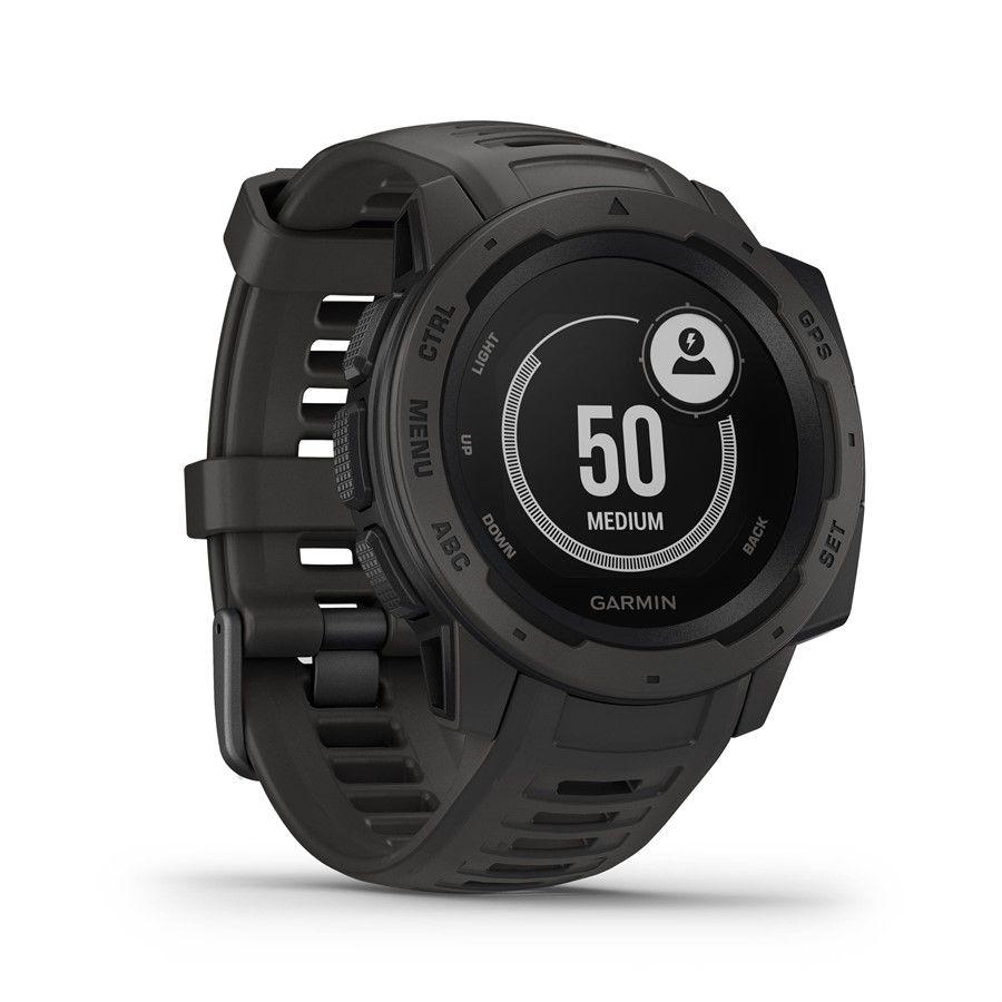 Relogio Monitor Cardíaco de Pulso com GPS Garmin Instinct Preto 010-02064-00