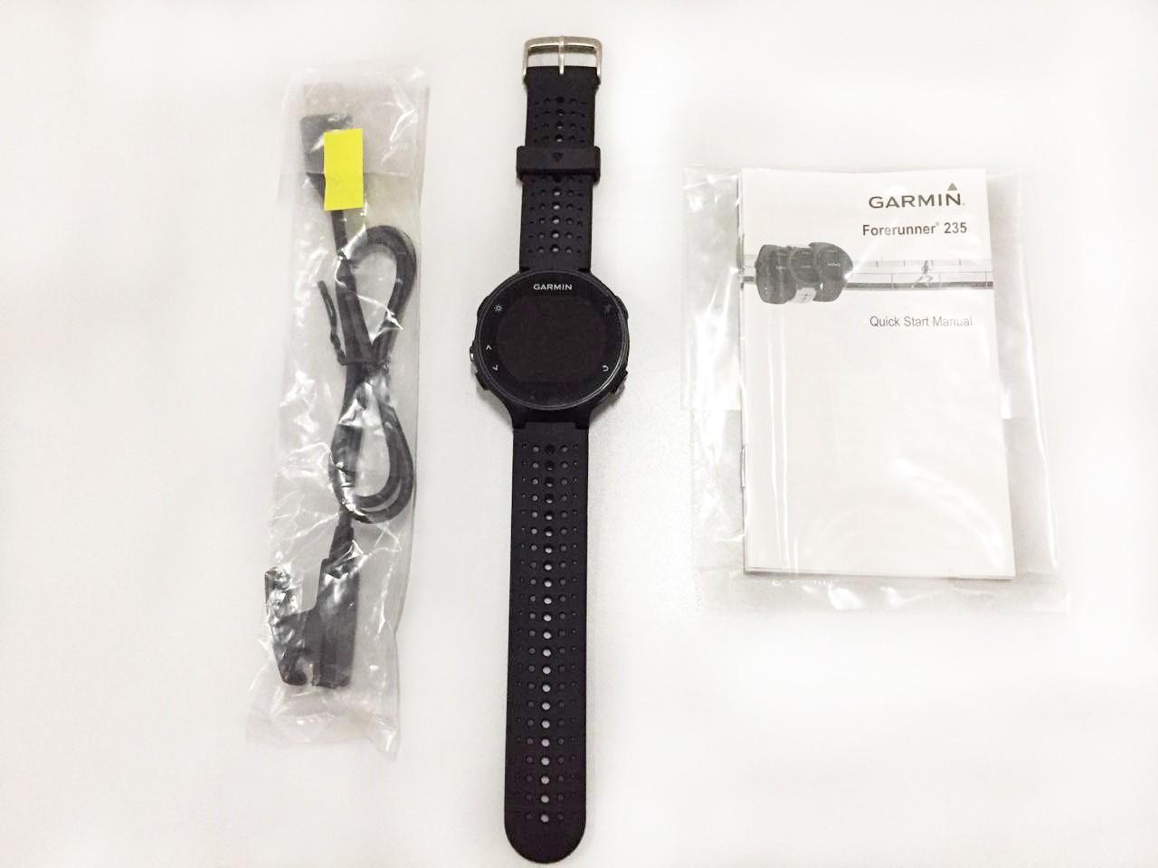 Smartwatch Gps Garmin Forerunner 235 Preto/Prata 010-03717-55 - Novo Sem Caixa