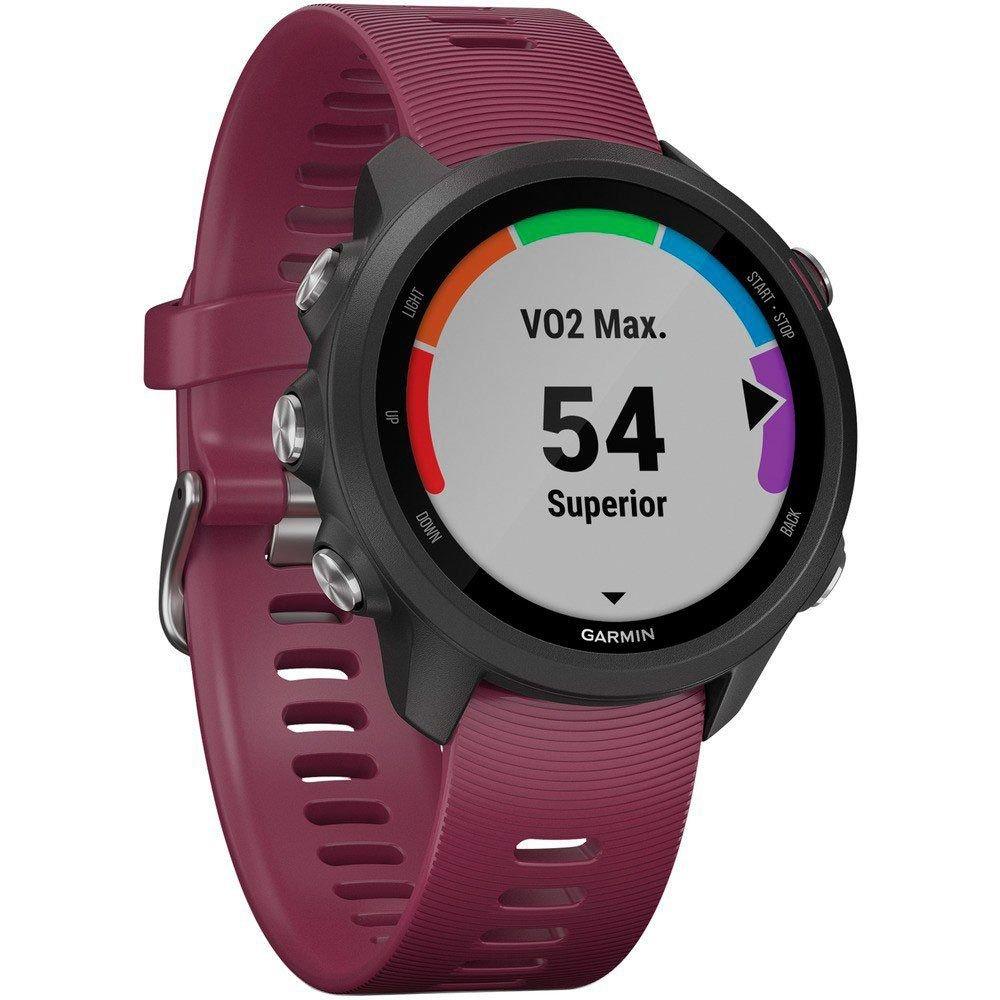 Smartwatch GPS Garmin Forerunner 245 Preto e Roxo 010-02120-11