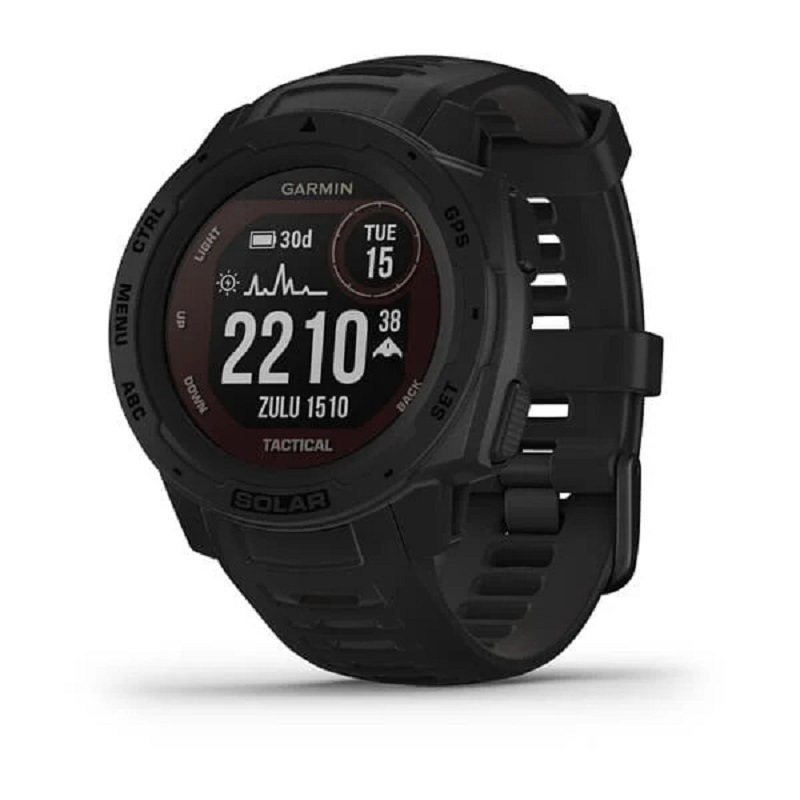 Smartwatch GPS Garmin Instinct Tactical Solar Preto 010-02293-03