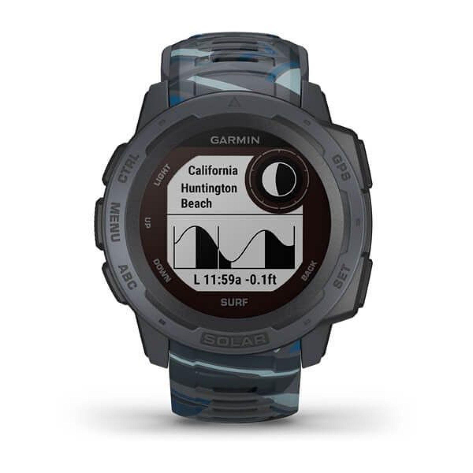 Smartwatch GPS Garmin Instinct Surf Solar Preto 010-02293-07