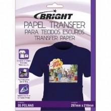 Papel Transfer dark para tecido escuro pct c/ 5 folhas