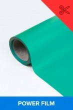 Power film brilhante verde  0,50m² (1/2 de m²)