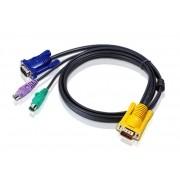 2L-5201P - Cabo KVM PS/2 com SPHD 3 em 1 1,2M