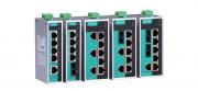 EDS-205A-T - Switch Ethernet Não Gerenciável, 5X 10/100Baset(X), AlimentaçãoRedundante, Temp Op -40~75C