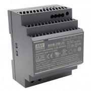 HDR-100 - Fonte de Alimentação Chaveada 100Watts, Função PFC, Trilho DIN