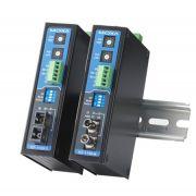 ICF-1150-S-ST - Conversor Serial Industrial Rs-232/422/485 Para Fibra Ótica, Monomodo,Conector St