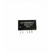 MAU154 - Conversor Dc-Dc Encapsulado De 1W, Entrada (13.5 ~ 16.5 Vdc) SaídaDupla (+/- 5 Vdc / +/- 100 Ma)
