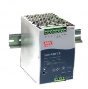 SDR-480 - Fonte de Alimentação Chaveada 480Watts, Função PFC, Trilho DIN