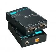 UPORT 1250I - Conversor Usb Para Serial, 2 Portas Rs-232/422/485 Com Isolação 2Kv,Conectores Db9 Macho