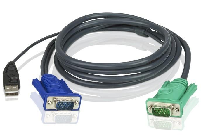 2L-5201U - Cabo KVM USB com SPHD 3 em 1 1,2M