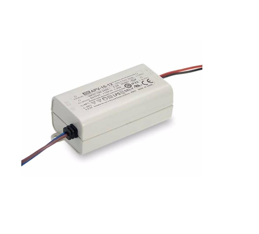 APV-16 - Fonte de Alimentação Chaveada 16Watts para LED