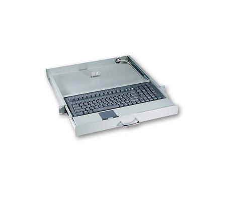 """AX7042-USB-Pad - Teclado Industrial Para Rack 19"""" 1U, Cor Preto, Com Mouse Pad, Conexões USB"""