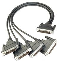 CBL-M44M25X4-50 - Cabo 1X Db44 Macho Para 4X Db25 Macho, Interfaces Rs-232/422/485, 50Cm