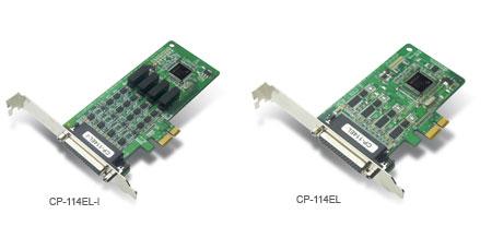 CP-114EL-I-DB9M - Placa Serial Pci Express X1, Perfil Baixo, 4 Portas Rs-232/422/485,Com Isolação 2Kv, Inclui Cabo Db9 Macho
