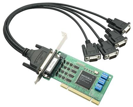 CP-114UL-DB9M - Placa Serial Pci Universal, Perfil Baixo, 4 Portas Rs-232/422/485,Inclui Cabo Db9 Macho