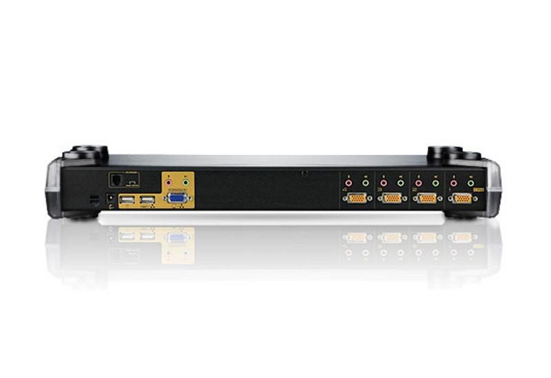 CS1754 - Comutador KVM de 4 portas PS/2-USB VGA/Áudio