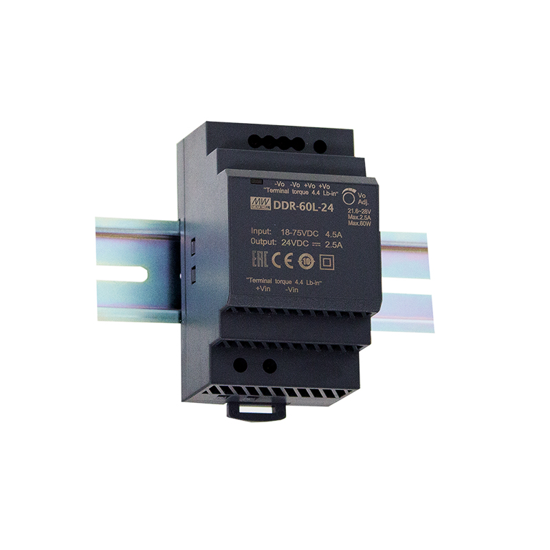 DDR-60 - Conversor DC/DC 60W Fixação Trilho DIN