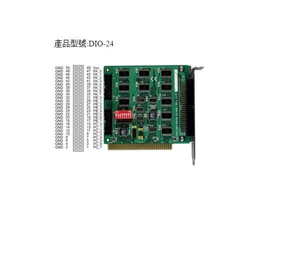 DIO-24 - Cartão Isa Digital, 24 Canais Entrada/Saída Ttl/5V, Não Isolados