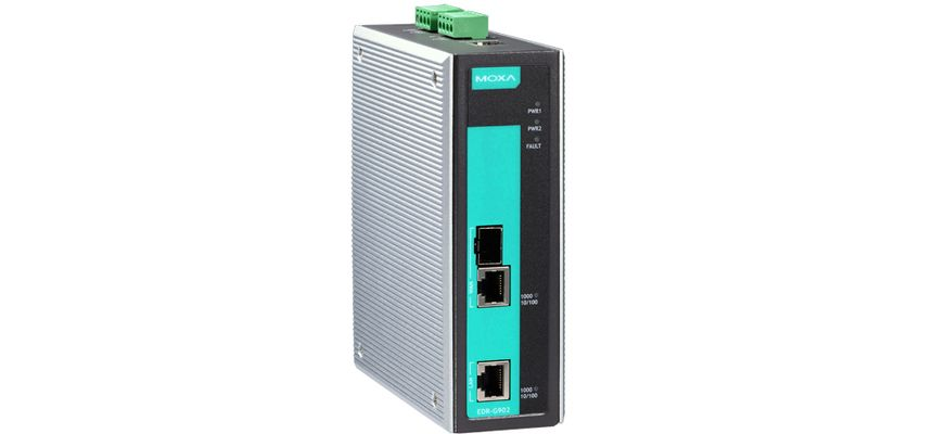 EDR-G902 - Roteador, Firewall/Nat, Vpn Industrial Gigabit, 1X Lan, 1X Wan, Combo10/100/1000Baset(X), 100/1000Base Sfp
