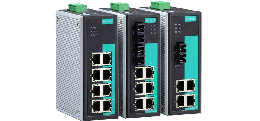 EDS-308-MM-ST-T - Switch Ethernet Nao Gerenciavel, 6 10/100Baset(X), 2 100BasefxMultimodo, Conector Sc, Temperatura Operação -40~75ºc