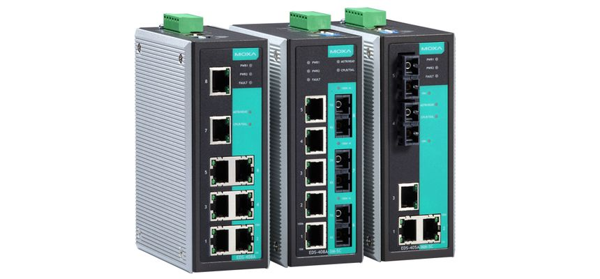EDS-405A-MM-ST - Switch Ethernet Gerenciavel, 3X 10/100Baset(X), 2X 100BasefxMultimodo, Conector St
