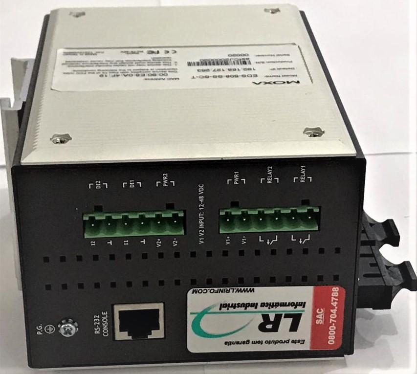EDS-508-SS-SC-T - SWITCH GERENCIÁVEL COM 6 PORTAS 10/100BASET(X), 2 PORTAS SINGLE MODE 100BASEFX,CONECTOR SC, -40 ATÉ 75°C