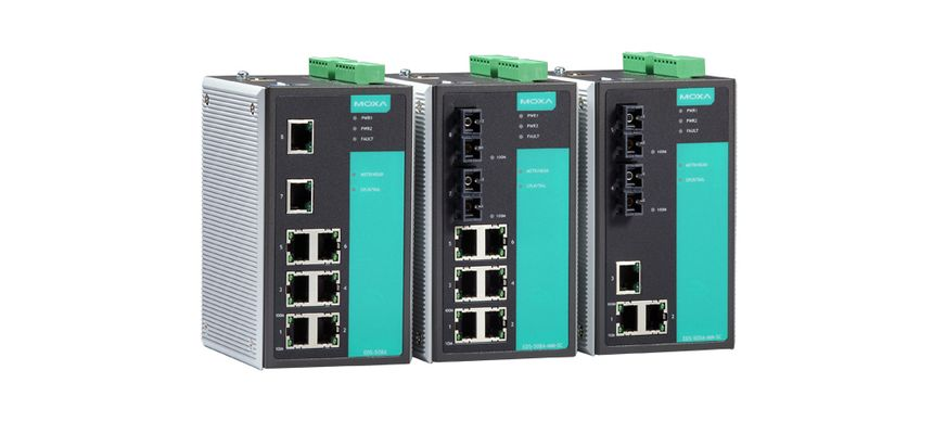 EDS-508A-MM-ST - Switch Ethernet Gerenciável, 6X 10/100Baset(X), 2X 100BasefxMultimodo, Conector St
