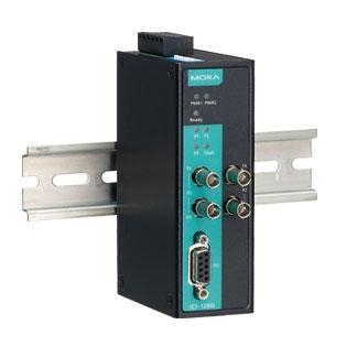 ICF-1280I-M-ST - Conversor Industrial Profibus Com Isolação 2Kv Para 2X Fibra ÓticaMultimodo, Conector St, Topologia Anel