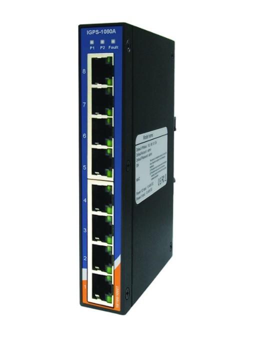 IGPS-1080A - Switch Ethernet Industrial Não Gerenciável Gigabit, 8X Poe P.S.E