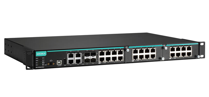 IKS-6728A-8PoE-4GTXSFP-48-T - Modular Managed Ethernet Switch With 8 10/100Baset(X) Poe/Poe+ Ports,4 10/100/1000Baset(X) Or 100/1000Basesfp Combo Por