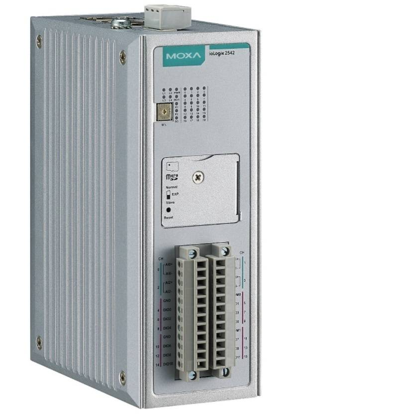 ioLogik 2542 - Ethernet Remote I/O With Click&Go Plus, 4 Ais, 12 Di/Os, -10 To 60°COperating Temperature