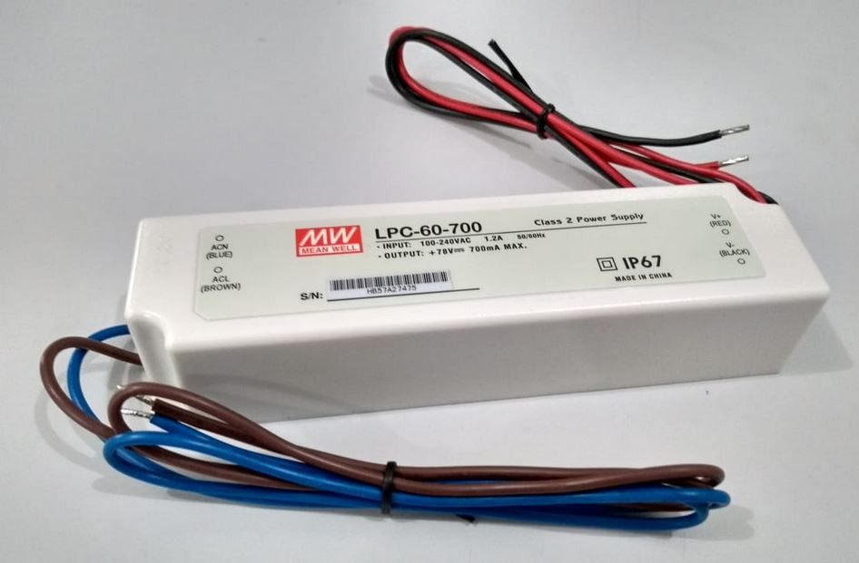 LPC-60 - Fonte de Alimentação Chaveada 60Watts para LED