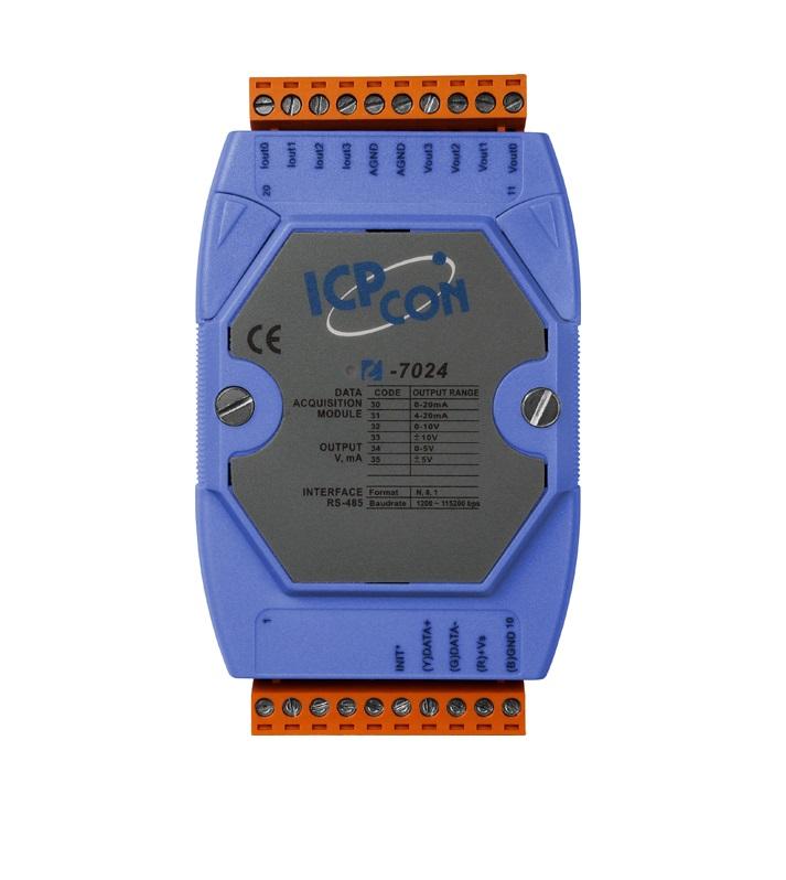 LR-7024 - Módulo Rs-485 Ascii, Saída Analógica V, Ma
