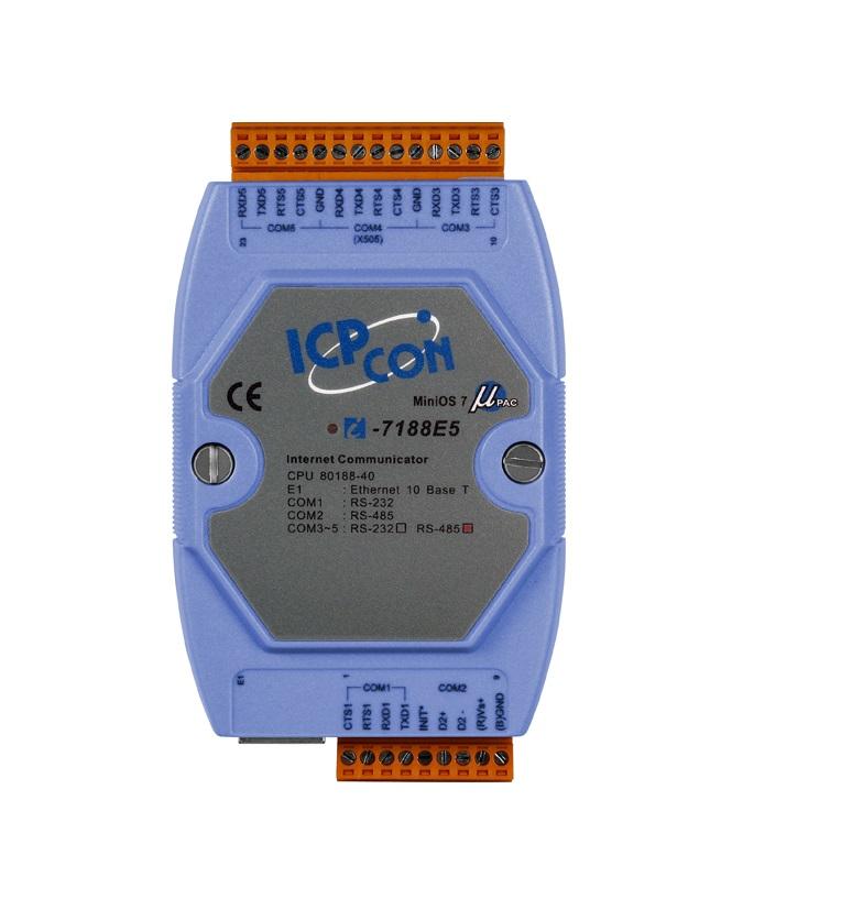 LR-7188E5 - Conversor Ethernet 10-Base -T Para 4X Rs-232 E 1X Rs-485