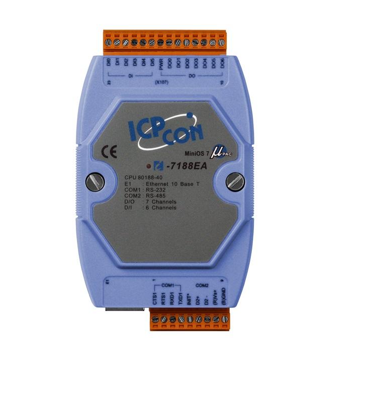 LR-7188EA - Controlador Programável C, 1X 10-Base-T, 1X Rs-232, 1X Rs-485, Digital 6 Entradas E 7 Saídas