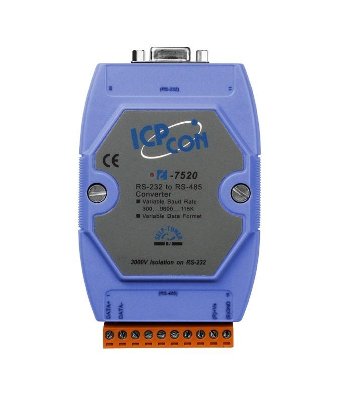 LR-7520 - Módulo Conversor Rs-232 Para Rs-485, Isolação 3000Vdc Na Rs-232