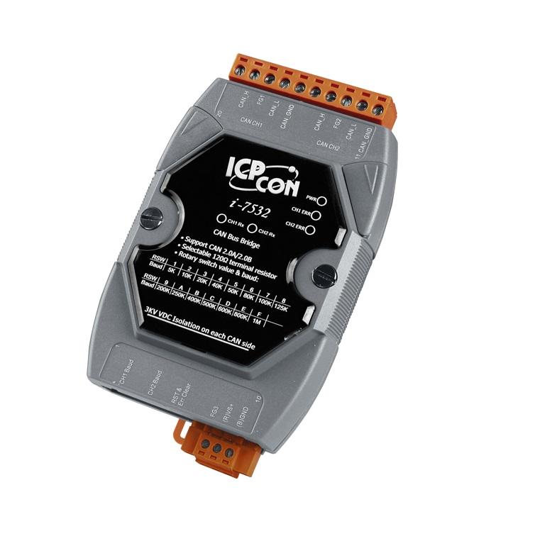 LR-7532 - Módulo Can, Repetidor, Isolador E Ponte, Com Isolação 3000Vdc