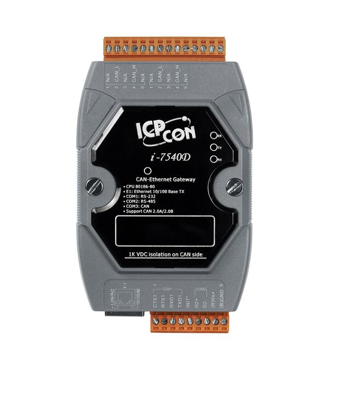 LR-7540D-G - Módulo Conversor Ethernet Para Can, Com 1 Can, 1 Rs-232, 1 Rs-485