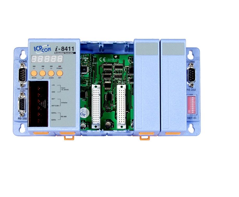 LR-8411 - Unidade De Controle 4 Slots, Módulos Da Série I-8K E I87K, 3 Seriais, Com Rtc