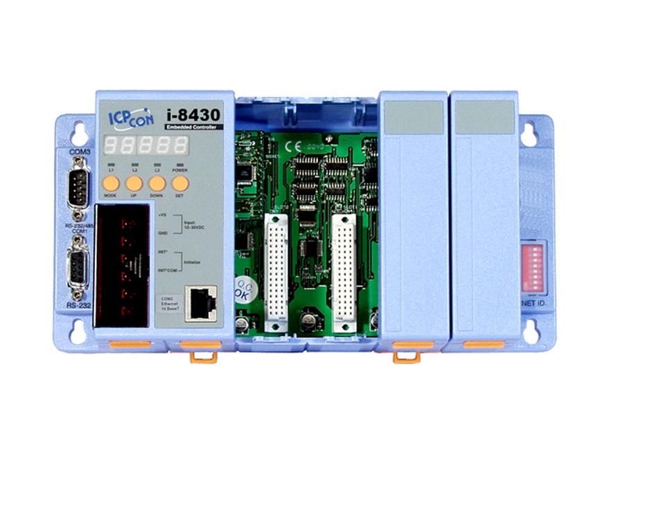 LR-8430 - Unidade De Controle 4 Slots, Módulos Da Série I-8K E I87K, 1 Serial E 1X 10Base-T