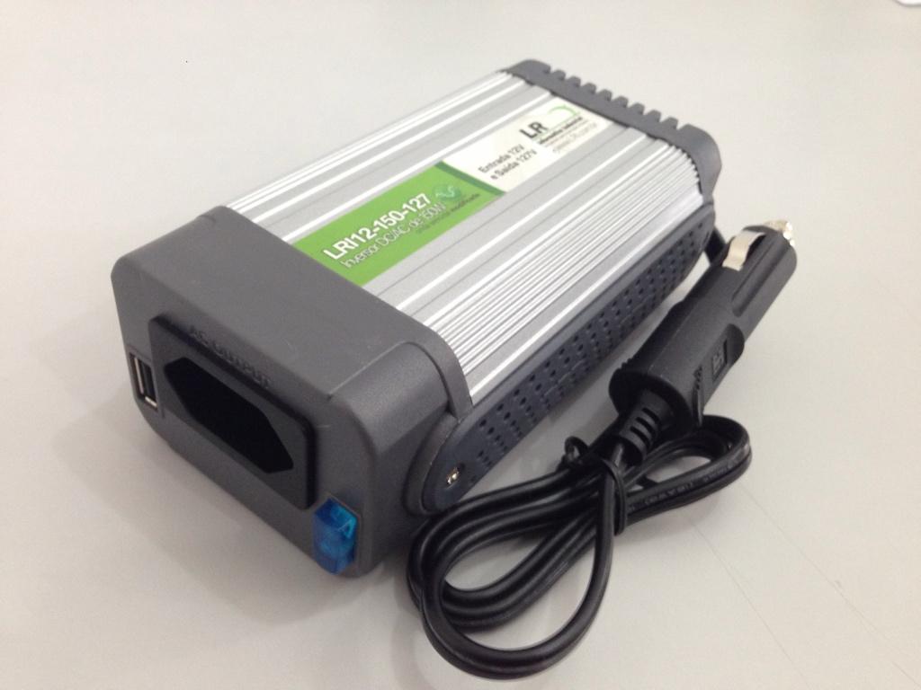 LRI12-150 - Inversor de Tensão DC/AC 150 Watts, Onda Senoidal Modificada
