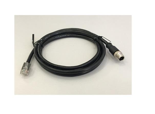 M12 LAN cable - Cabo Lan  M-12D  4P-M/RJ45 180cm