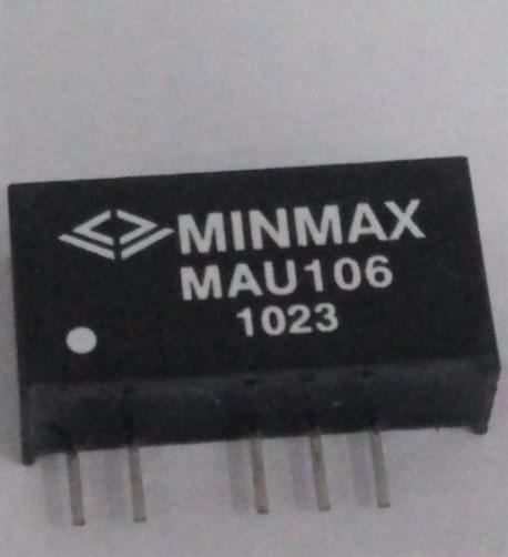 MAU106 - Conversor Dc-Dc Encapsulado De 1W, Entrada (4.5 ~ 5.5 Vdc), SaídaDupla (+/-5 Vdc / +/-100Ma)