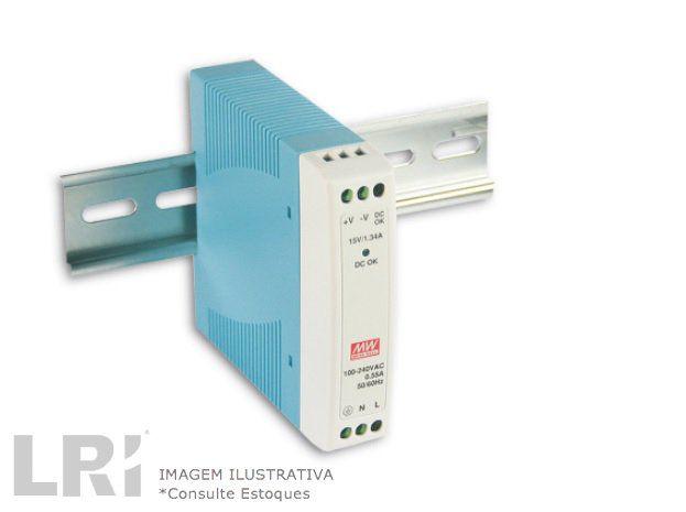 MDR-10 - Fonte de Alimentação Chaveada 10Watts, Trilho DIN