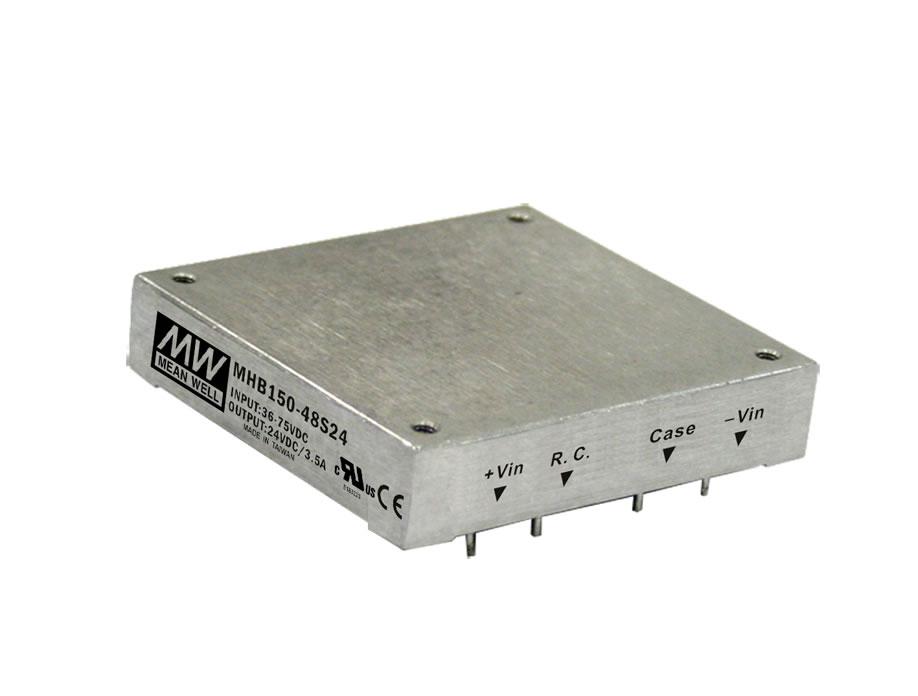 MHB150 - Conversor DC/DC Encapsulado 150Watts, Saída Única Regulada
