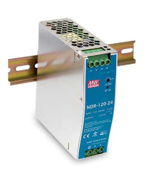 NDR-120 - Fonte de Alimentação Chaveada 120Watts, Trilho DIN