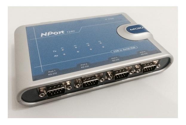 NPORT 1240 - CONVERSOR INDUSTRIAL USB PARA 4 PORTAS SERIAIS RS-232