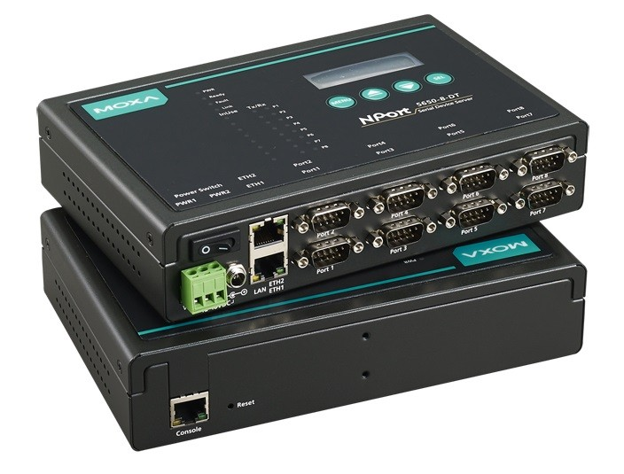 NPORT 5610-8-DT - Módulo Servidor Rs-232 8 Portas Conectores Db9M, Desktop, Alimentação48 Vdc