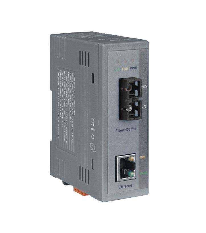 NS-200FCS - Conversor Industrial Ethernet 10/100Base-T(X) Para 100Base-Fx  Multimodo, Sc